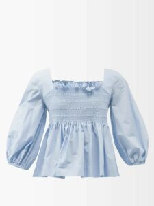 Adidas By Stella Mccartney - Essential Mesh Panel T Shirt - Womens - Blue