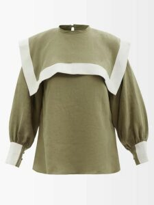 Saint Laurent - Loulou Bandana Print Espadrille Base Shoulder Bag - Womens - Red White