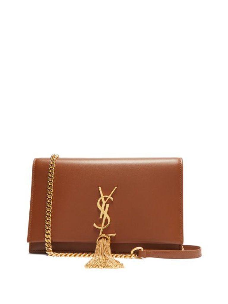 Saint Laurent - Kate Mini Monogram Leather Cross Body Bag - Womens - Tan