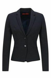 Regular-fit cropped blazer in stretch wool