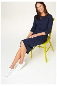 Womens Next Navy Nursing Layer Dress -  Blue