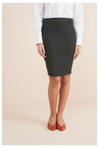 Womens Next Black Tailored Above Knee Pencil Skirt -  Black