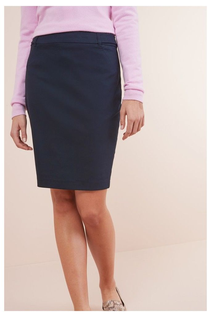 Womens Next Navy Tailored Above Knee Pencil Skirt -  Blue