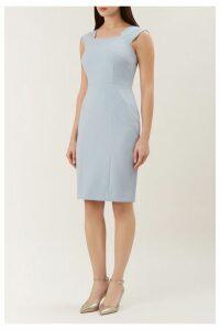 Womens Hobbs Harper Square Dress -  Blue