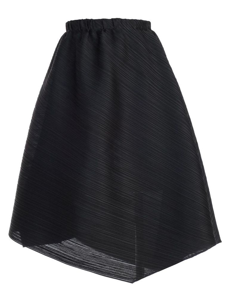 Pleats Please By Issey Miyake Asymmetric Pleated Skirt