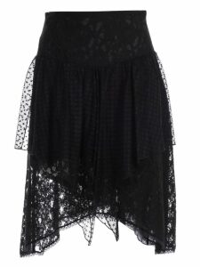 See by Chloé Asymmetric Lace Skirt