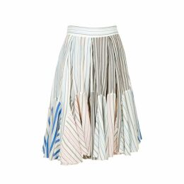 JW Anderson Striped High-waisted Cotton Skirt