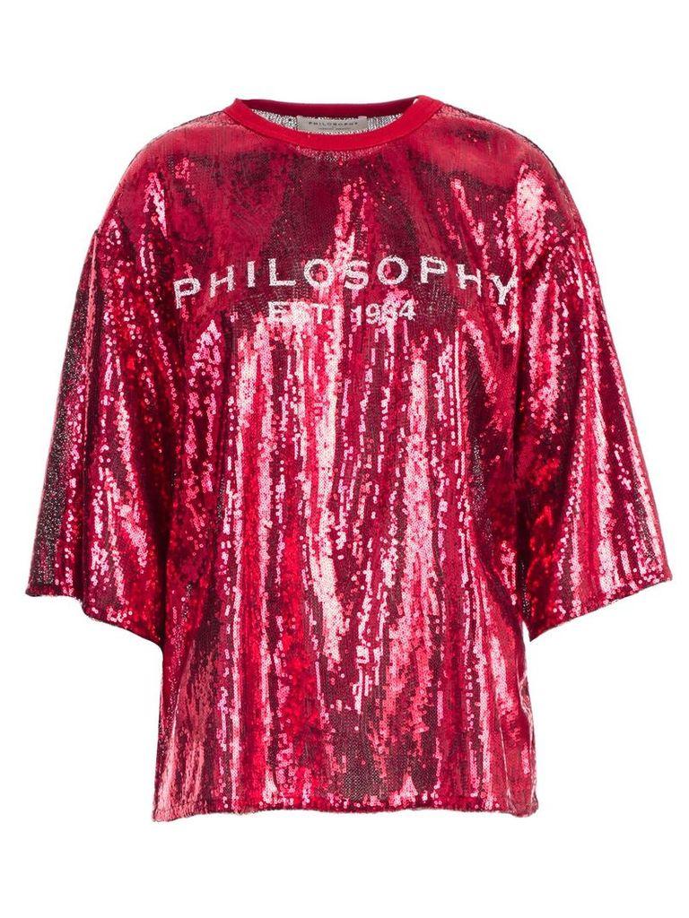 Philosophy Di Lorenzo Serafini Sequin-coated T-shirt