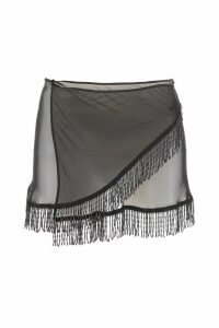 Oseree Pearls Collection Mini Skirt