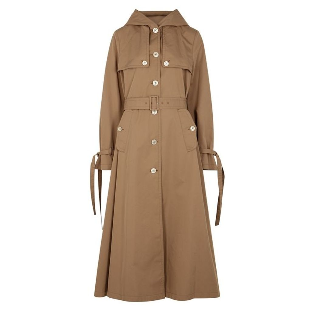 Gucci Brown Cotton-blend Trench Coat