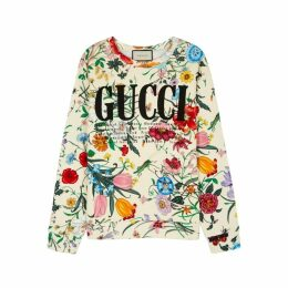 Gucci Floral-print Cotton Sweatshirt