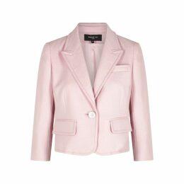 Paule Ka Pink Cotton-blend Blazer