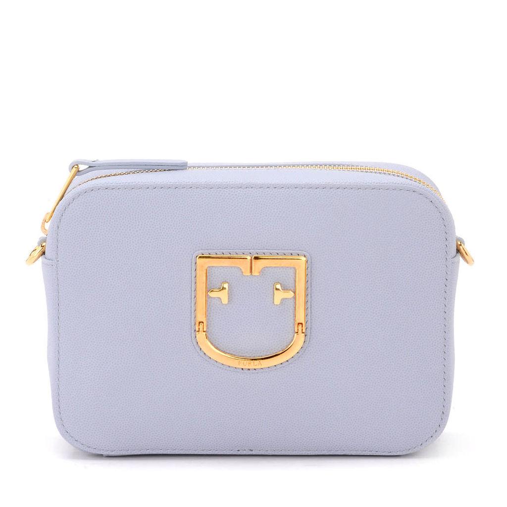 Furla Brava Mini Lilac Leather Shoulder Bag