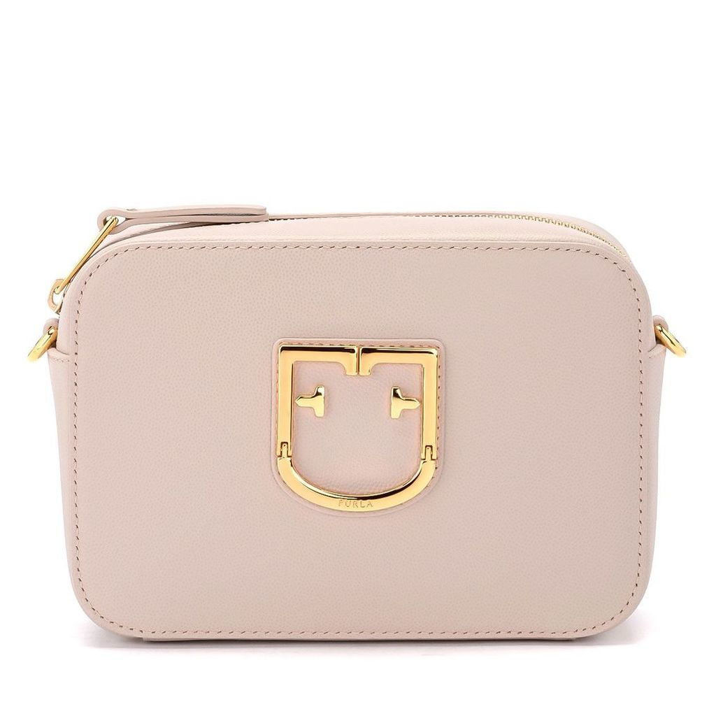 Furla Brava Mini Pink Dahlia Leather Shoulder Bag