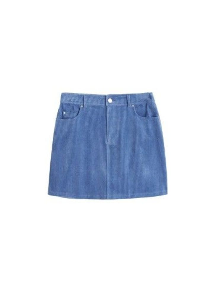 Corduroy cotton skirt