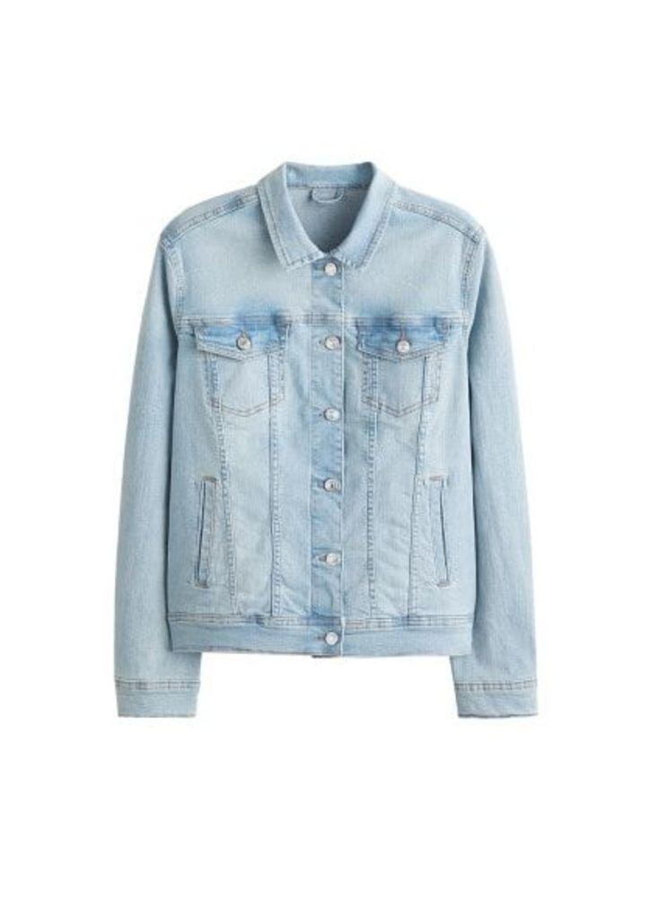 Vintage light wash denim jacket