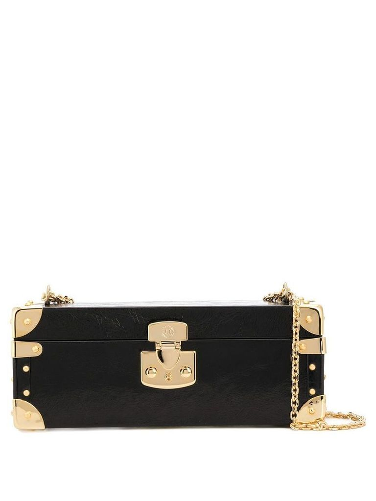 Luis Negri large Bauletto clutch - Black