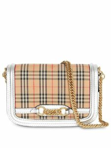 Burberry The 1983 Check Link Bag with Leather Trim - Neutrals