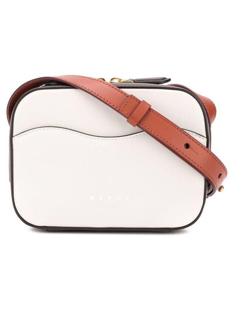 Marni boxy crossbody bag - White
