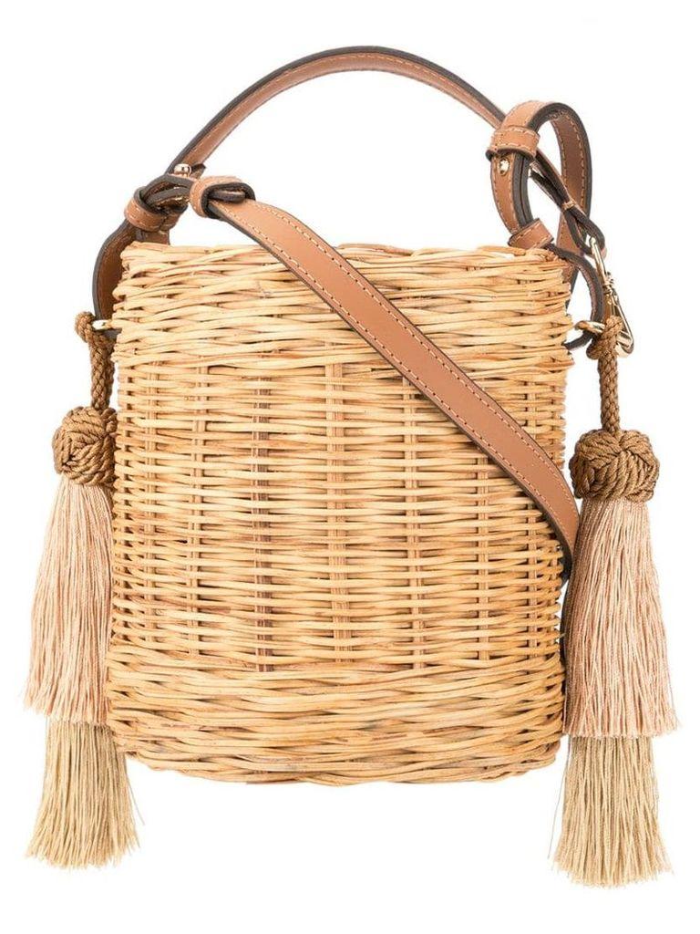 Wai Wai tassel detail bucket bag - Brown