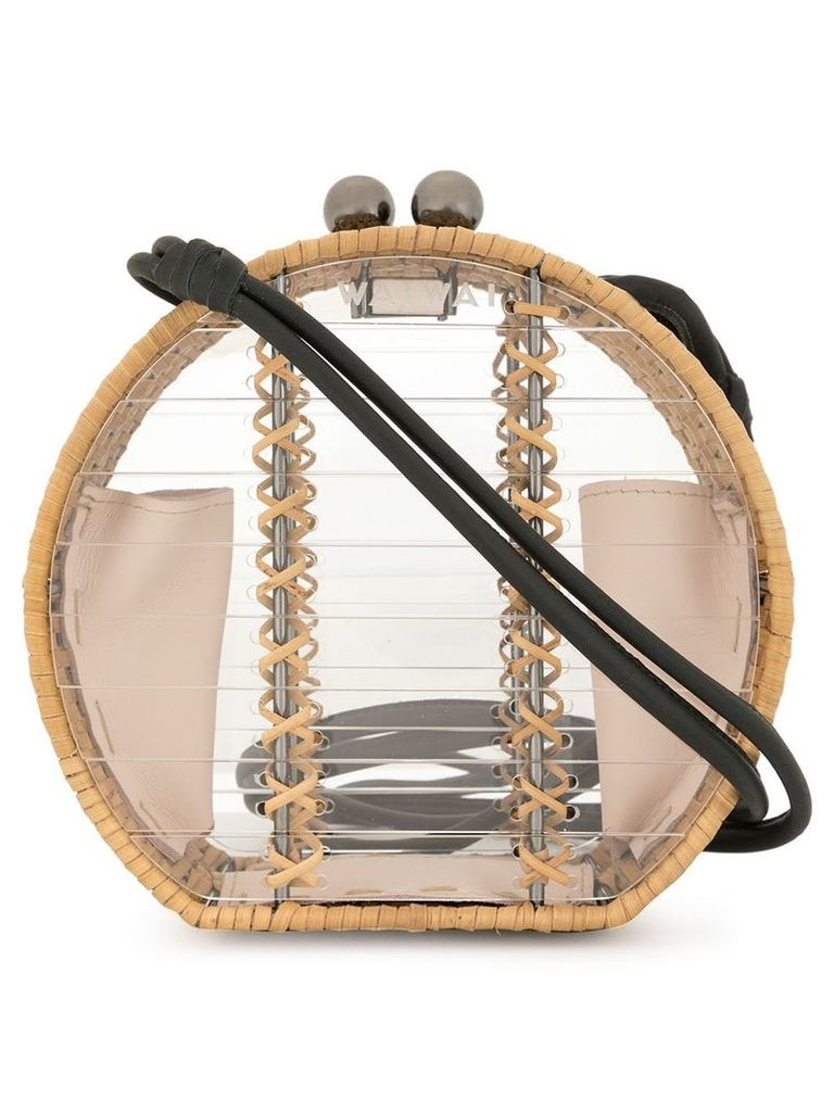 Wai Wai structured straw crossbody bag - Yellow