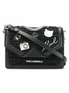 Karl Lagerfeld K/Klassik Pins shoulder bag - Black