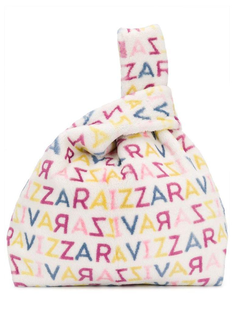 Simonetta Ravizza Furrissima logo tote bag - White