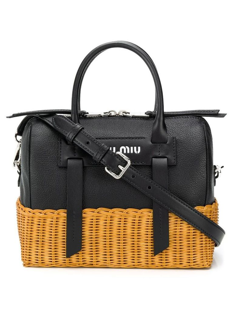 Miu Miu basket detail tote bag - Black
