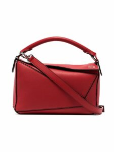 Loewe small Puzzle shoulder bag - Red