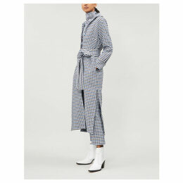 Cardota checked cotton-blend trench coat