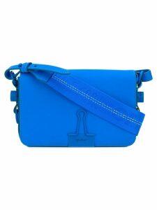 Off-White mini flap crossbody bag - Blue