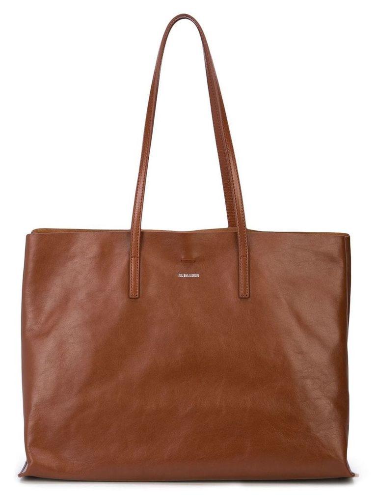 Jil Sander large tote bag - Brown