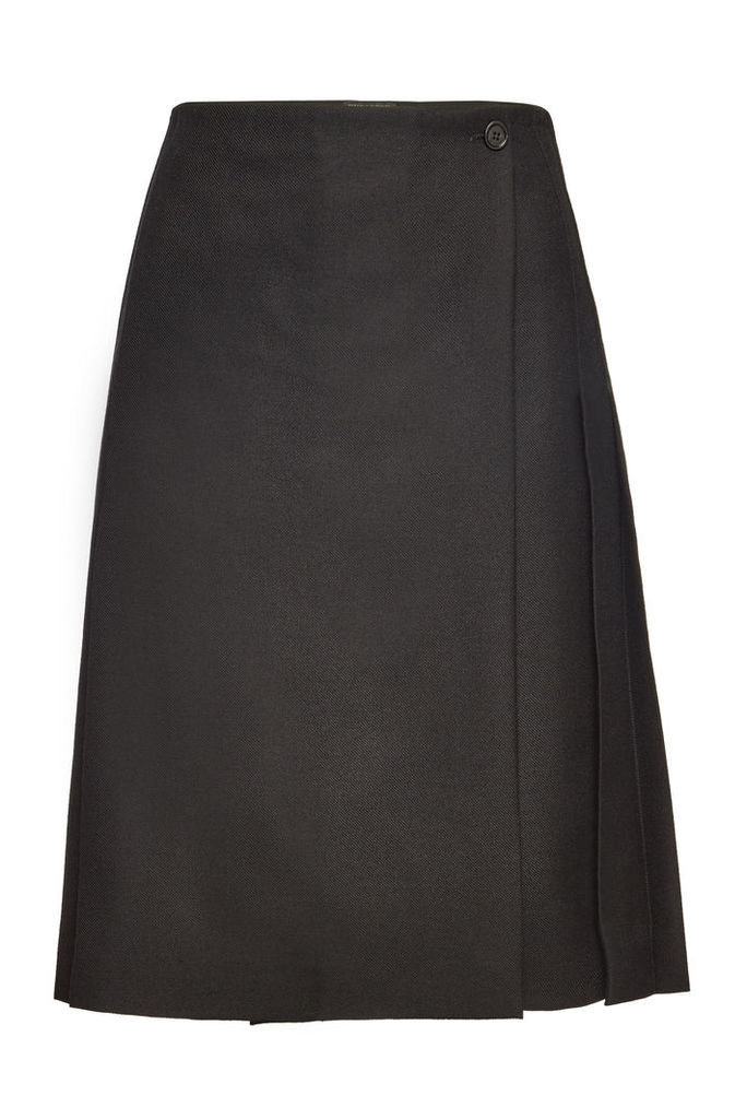 Burberry Wool Wrap Skirt
