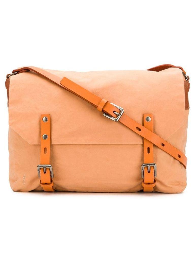 Ally Capellino double buckle crossbody bag - Orange