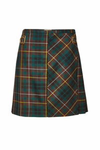 Burberry Adige Checked Wool Skirt