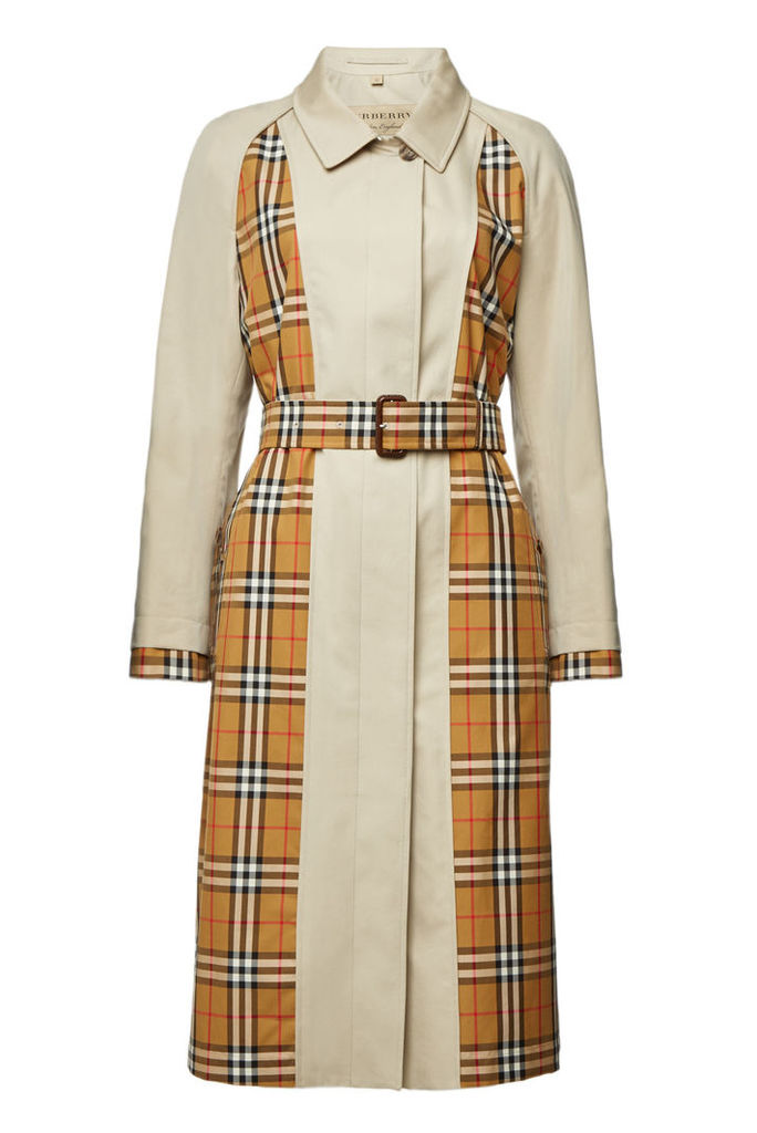 Burberry Guiseley Checked Cotton Trench Coat
