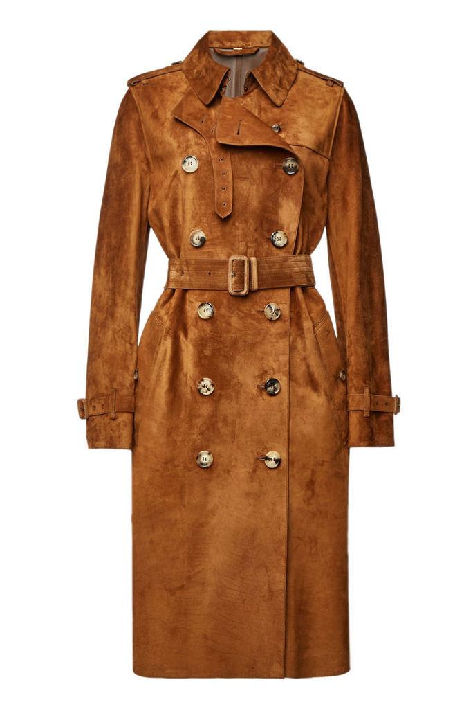 Burberry Haddington Suede Coat