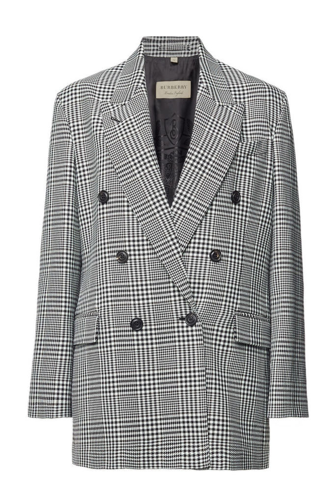 Burberry Checked Wool Blazer