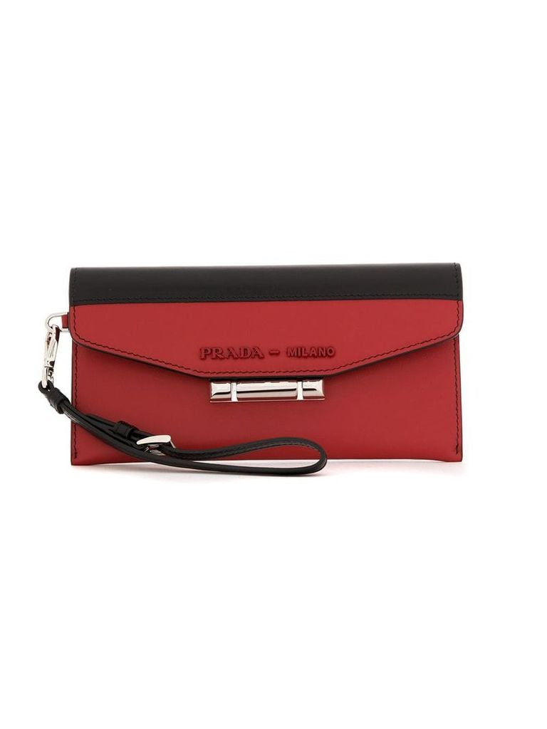 Prada Sybille two-tone leather bag - Red