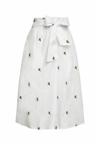 Aybi Sonia Embroidered Cotton Skirt