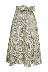 Lisa Marie Fernandez Beach Embroidered Cotton Skirt