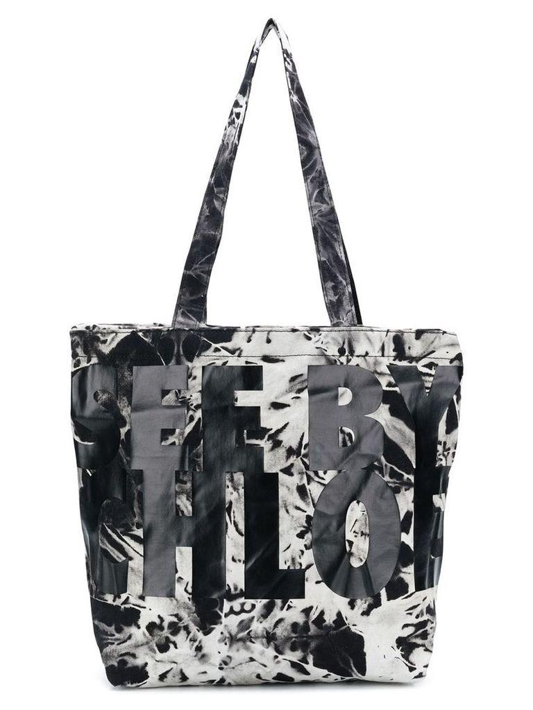 See By Chloé logo print tie dye shopper tote - Black