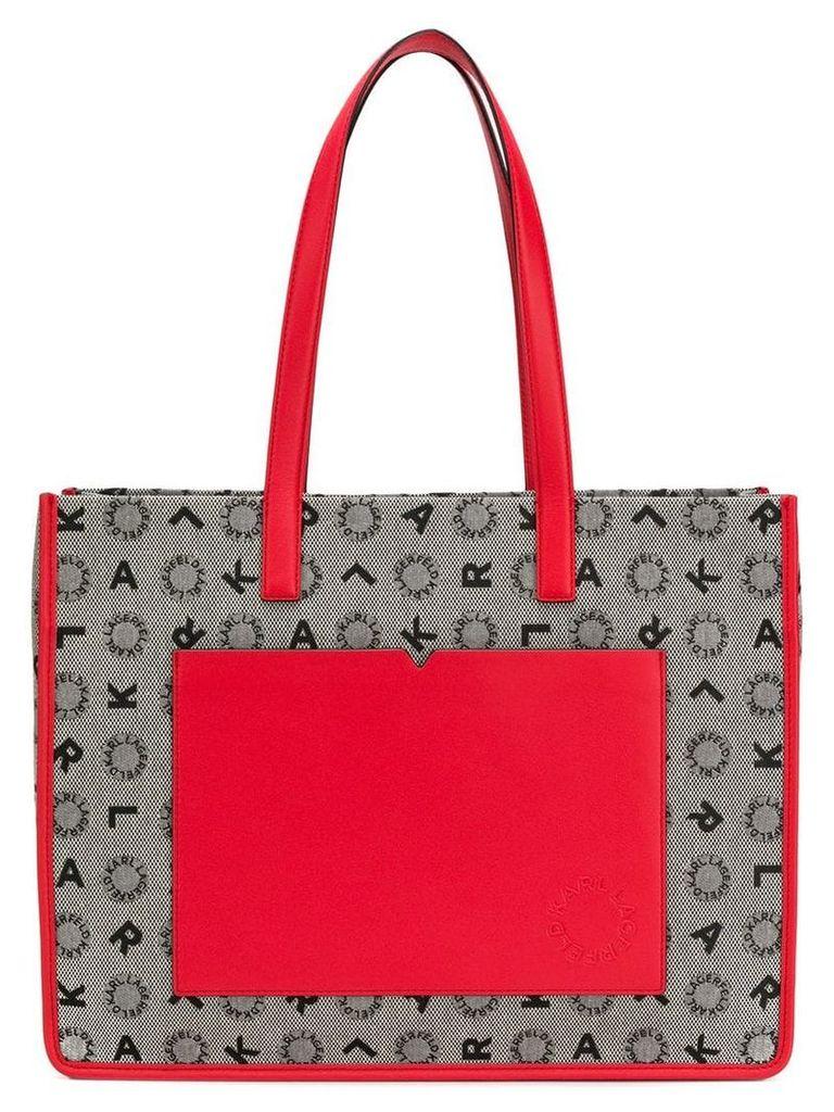Karl Lagerfeld K/Jacquard shopper bag - Black