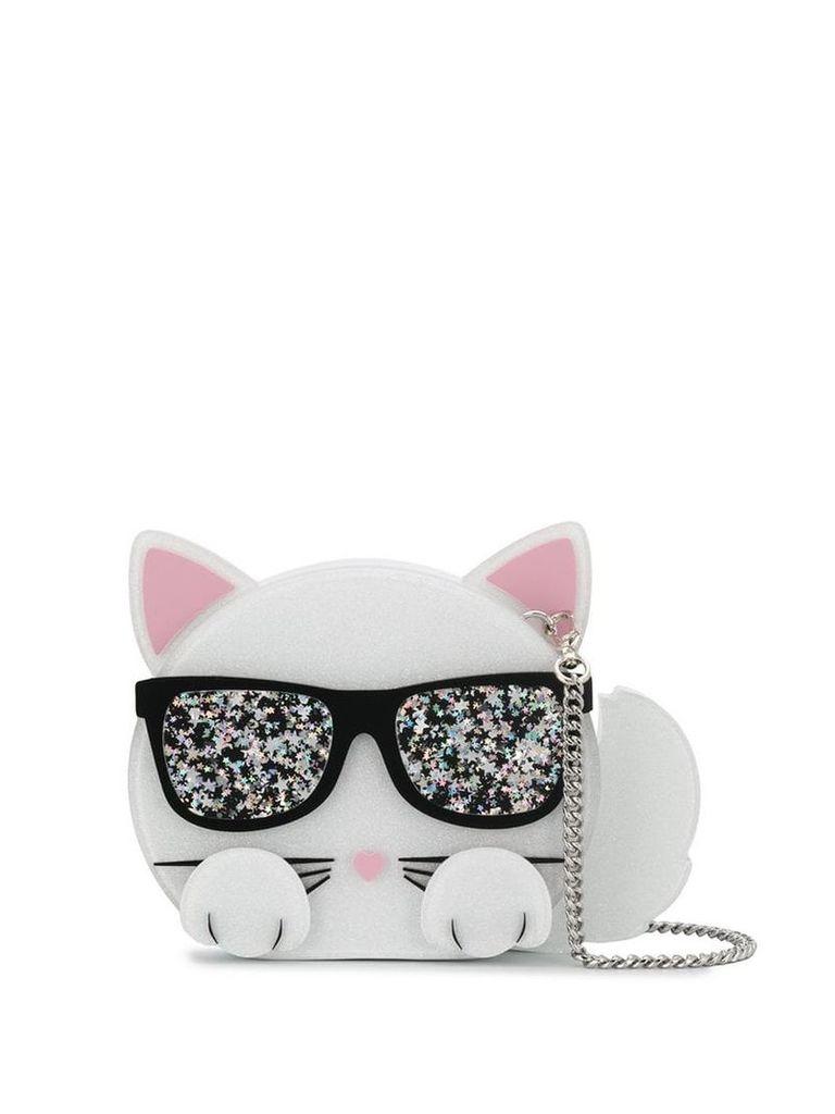 Karl Lagerfeld choupette minaudiere bag - White