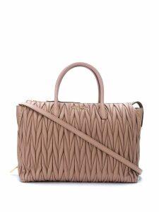 Miu Miu Matelassé leather tote bag - Pink