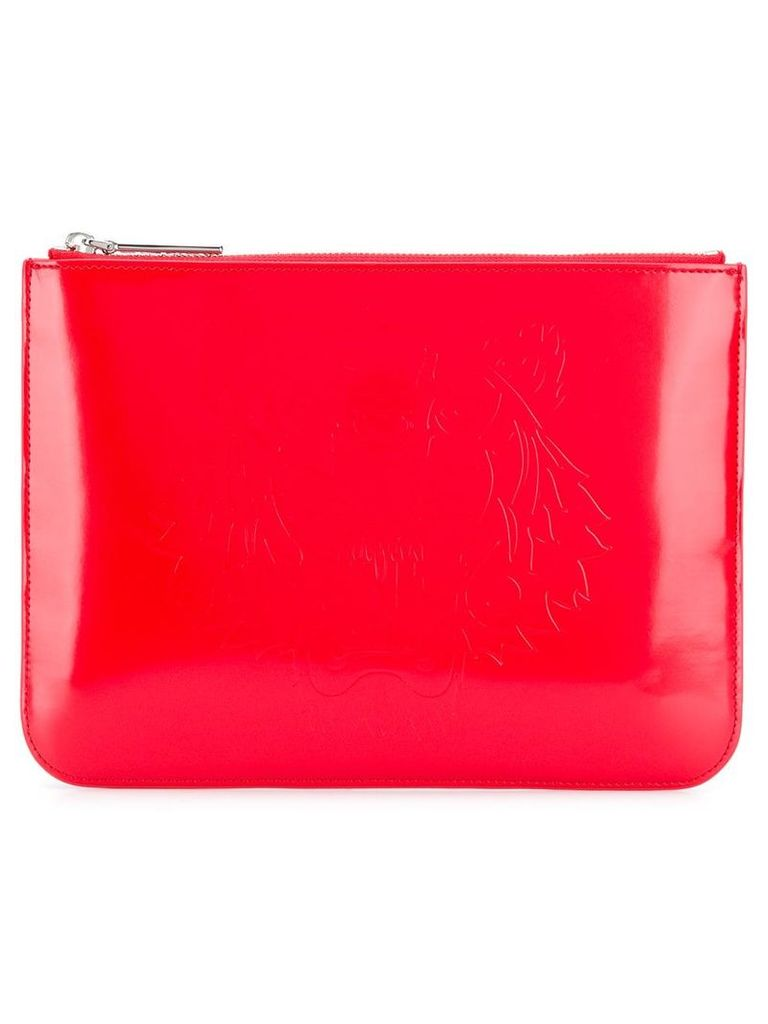 Kenzo tiger logo clutch bag - Red