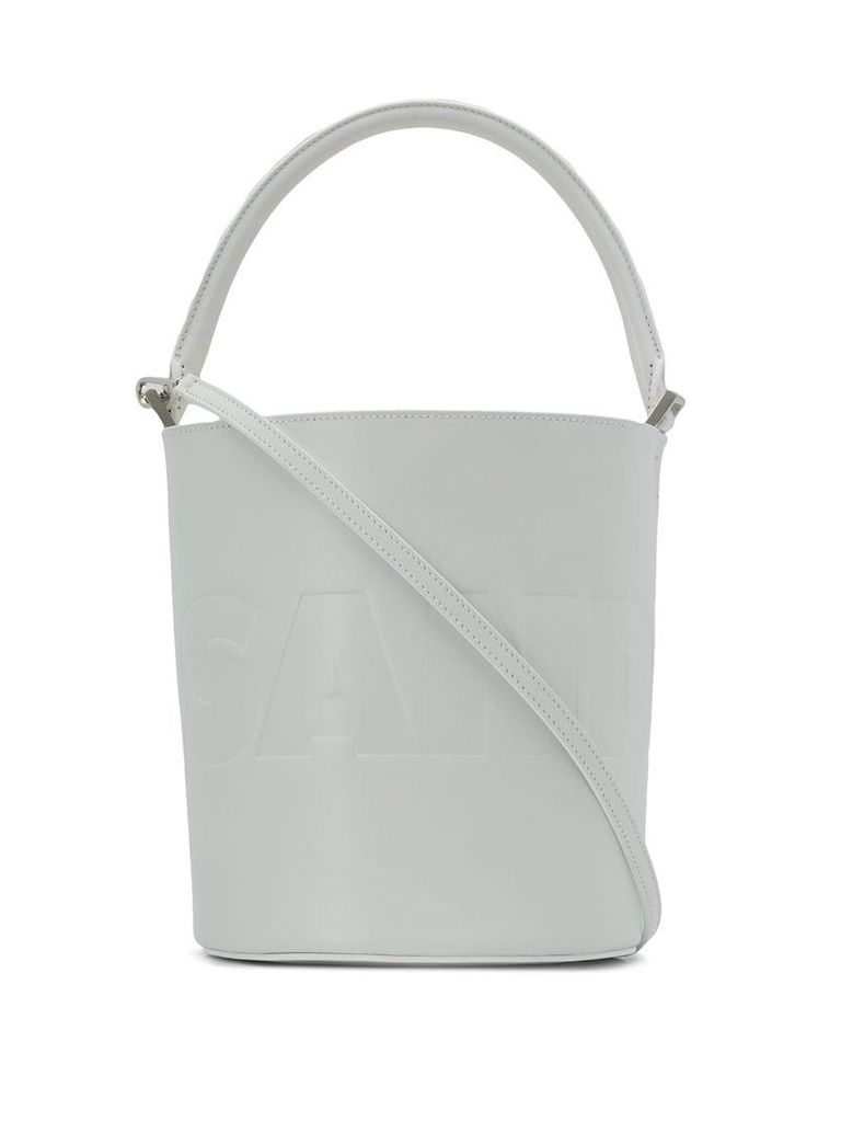 Jil Sander round bucket bag - White