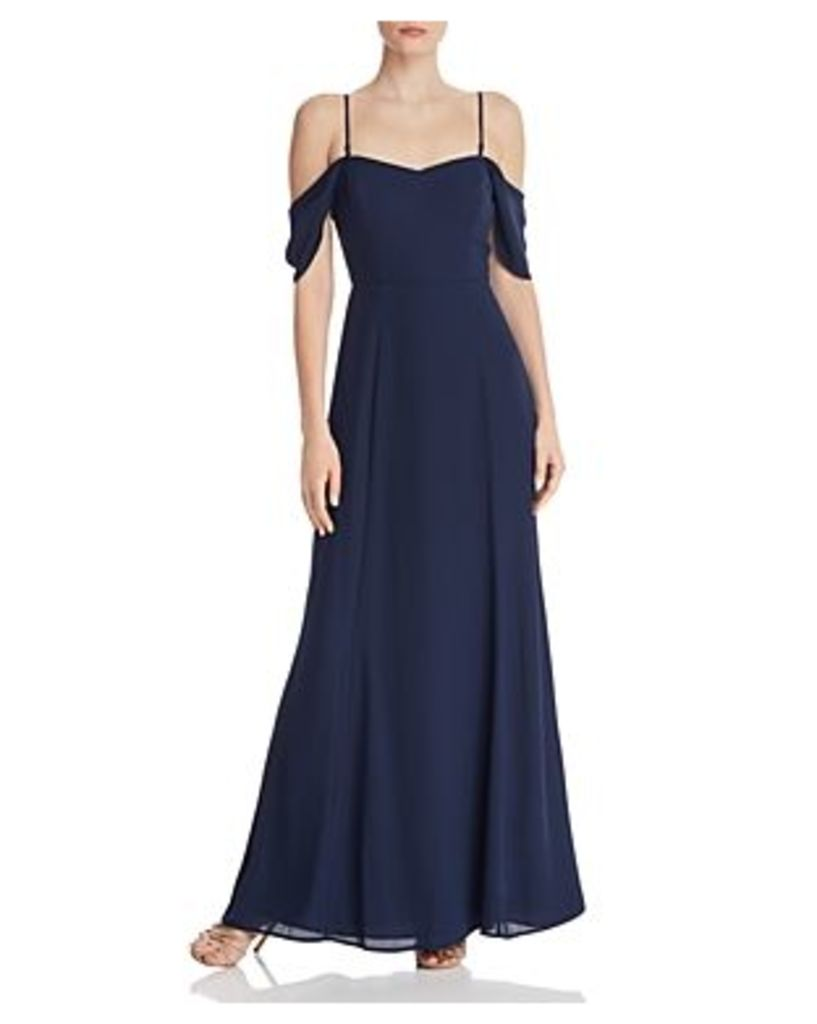 Wayf Rachel Cold-Shoulder Dress