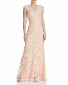 Tadashi Shoji Cap Sleeve Lace Gown - 100% Exclusive