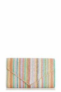 Quiz Multicoloured Woven Envelope Bag